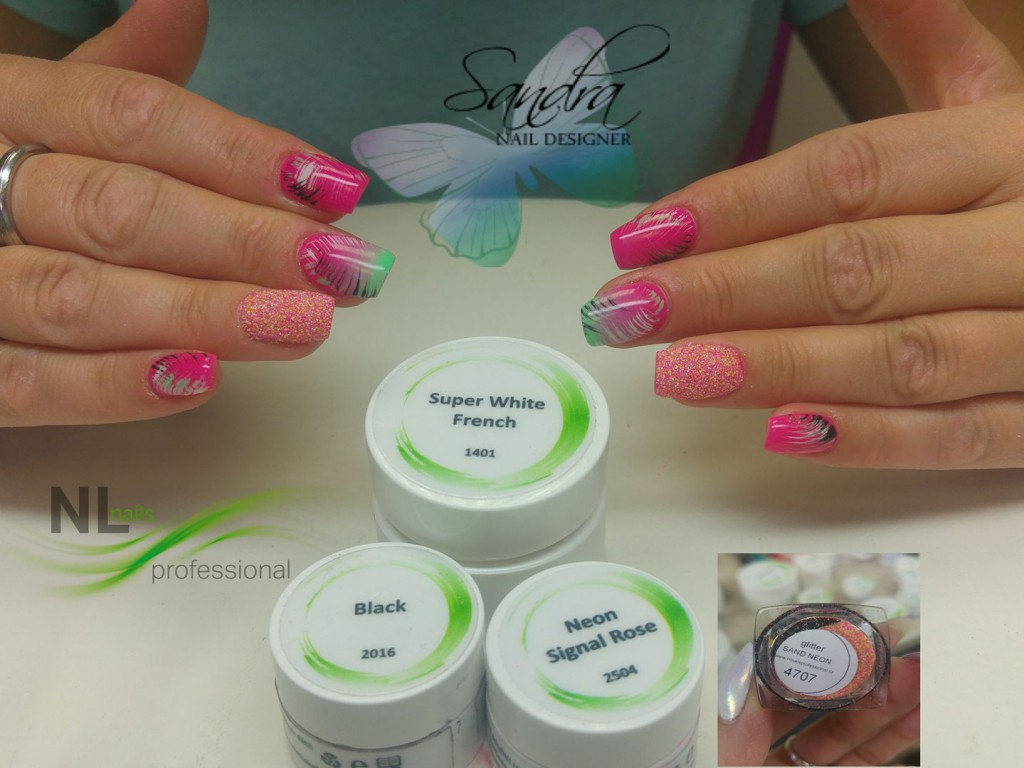 Uv Led Barevny Gel Neon Signal Rose Uv Led Barevne Gely Neon Nl Nails Profesional Profesionalni Pece O Nehty