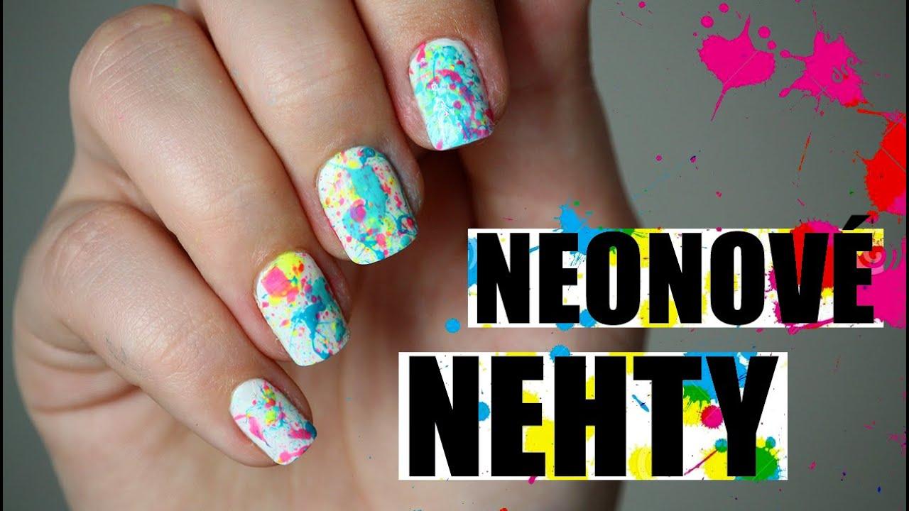 Jak Na Jednoduche Neonove Nehty Youtube
