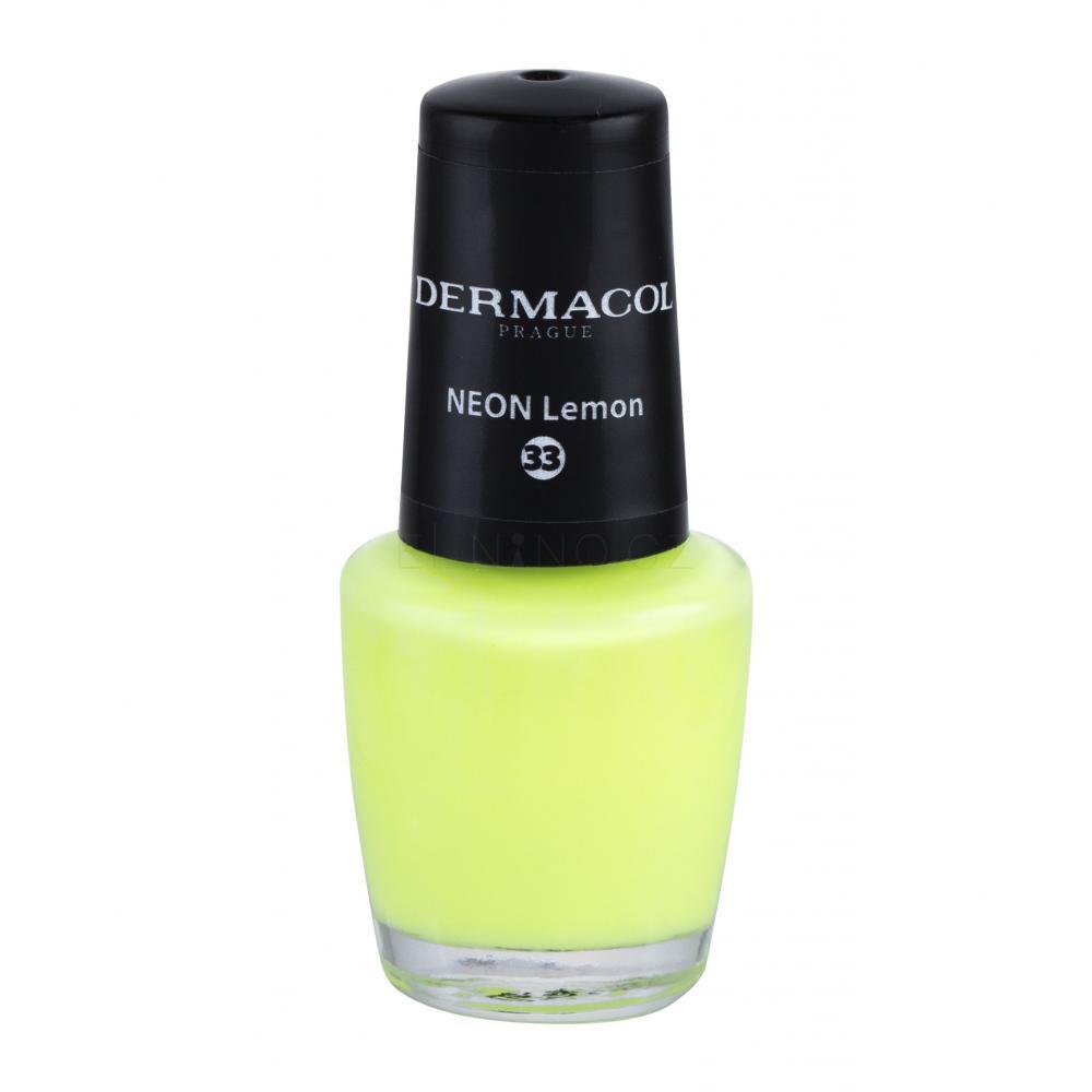 Dermacol Neon Lak Na Nehty Pro Zeny 5 Ml Odstin 33 Neon Lemon Elnino Cz