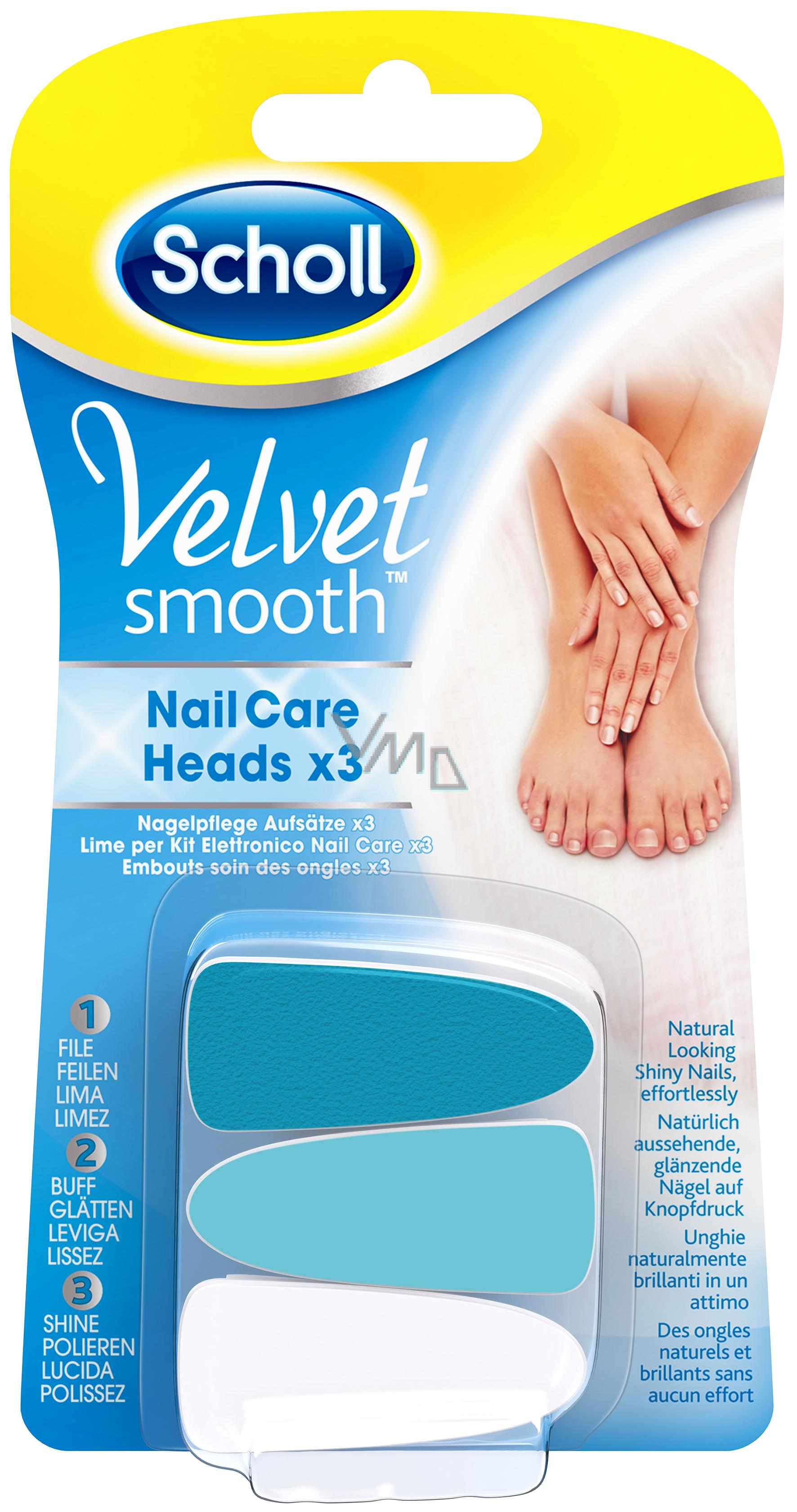 Scholl Velvet Smooth Blue Nahradni Hlavice Do Elektrickeho Pilniku Na Nehty 3 Kusy Vmd Drogerie A Parfumerie
