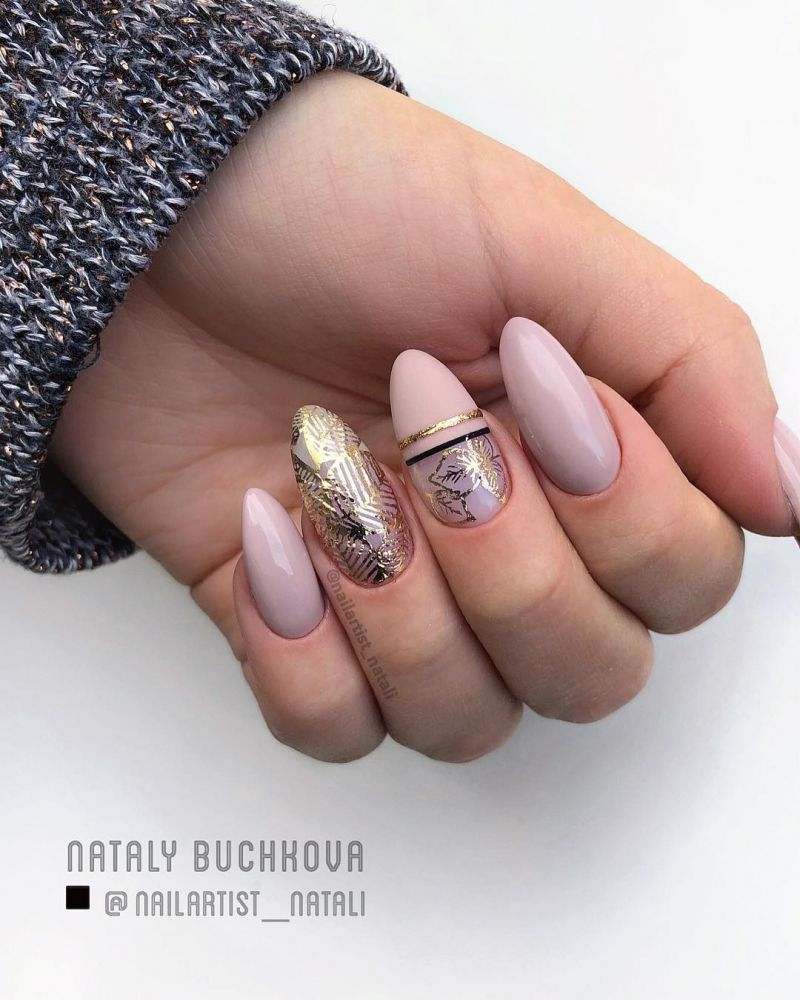 45 Trendy Almond Nail Art Designs You Must Try Gelove Nehty Design Nehtu Nehty