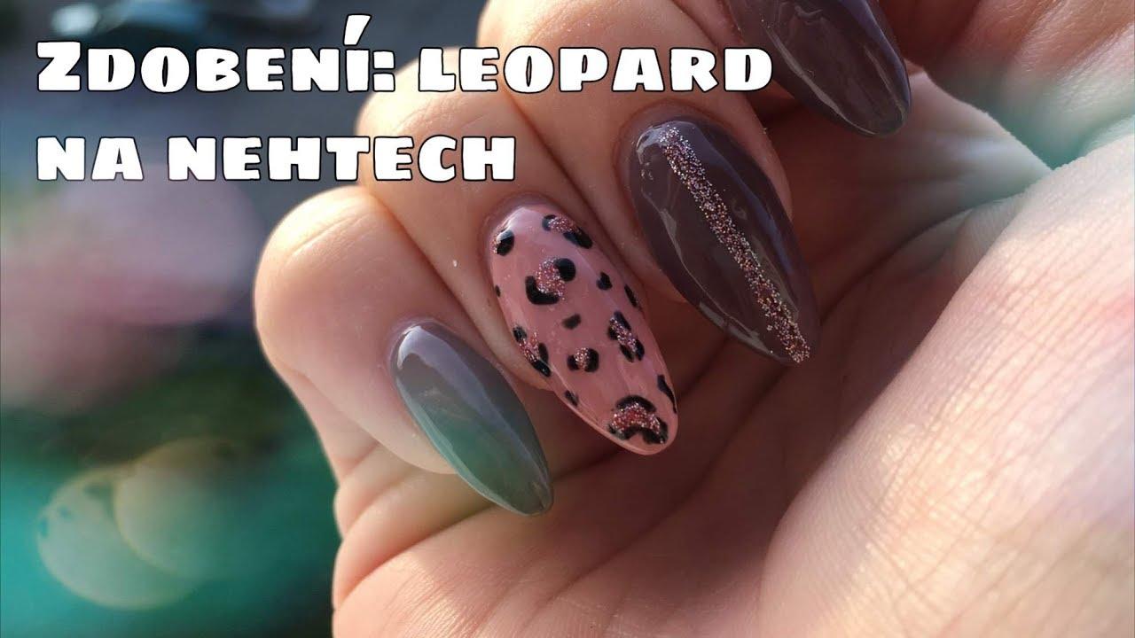Zdobeni Nehtu Gel Laky Leopardi Vzor Kate Cosmetics Youtube
