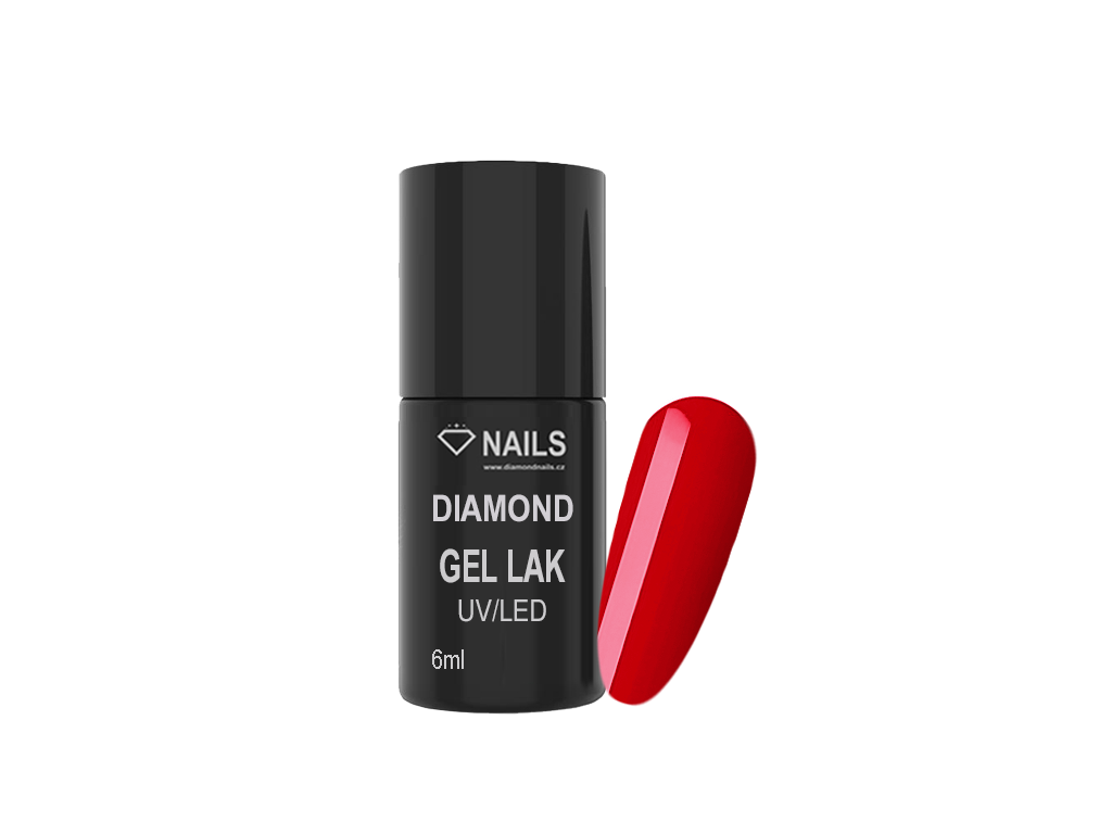 Diamond Gel Lak 011 6ml Cervena
