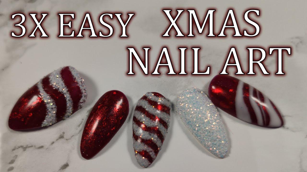 Easy Vanoce 3x Snadny Vanocni Nail Art Xmas 2019 Youtube