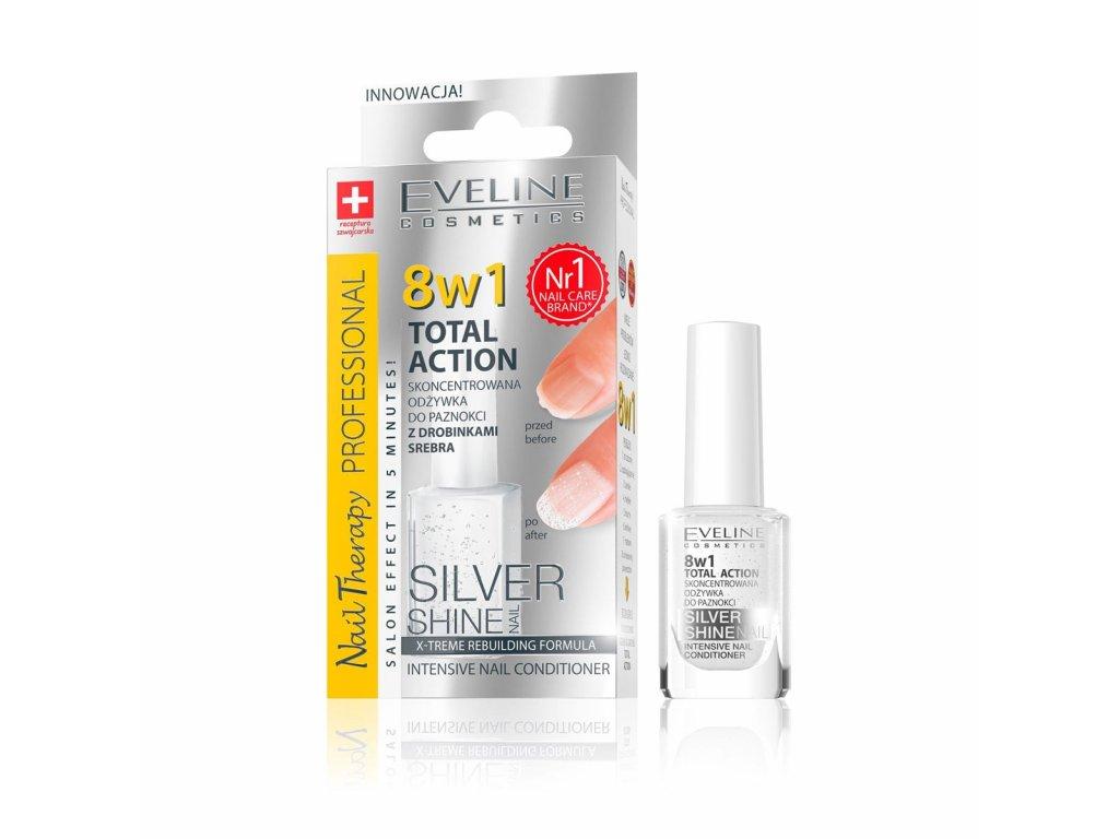 Eveline Cosmetics Lak Na Nehty Stribrny S Vyzivou