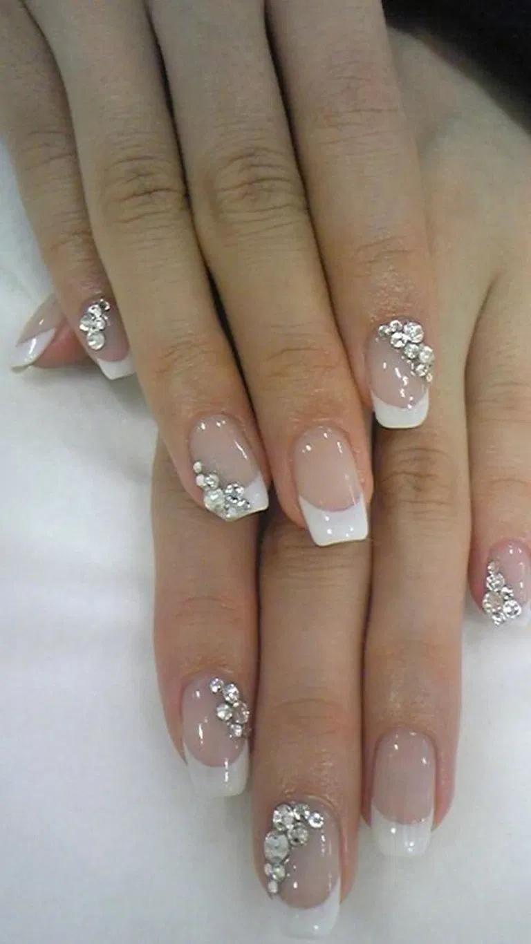 27 Outstanding Bridal Nails Art Designs Ideas 13 In 2020 Gelove Nehty Nehty Ruka