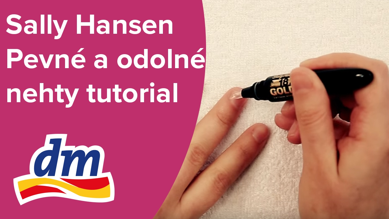 Sally Hansen Pevne A Odolne Nehty Tutorial Dm Drogerie Youtube
