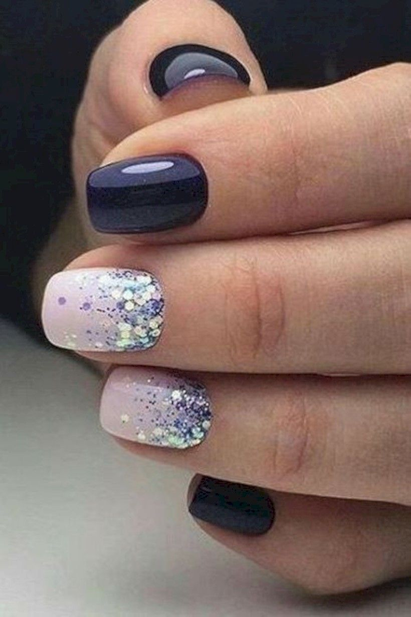 35 Pretty Winter Nails Art Design Inspirations Gelove Nehty Design Nehtu Nehty
