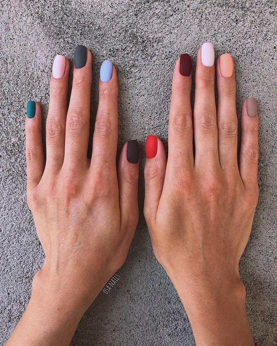 Multi Nails Nailinspo Gelove Nehty Design Nehtu Nehet
