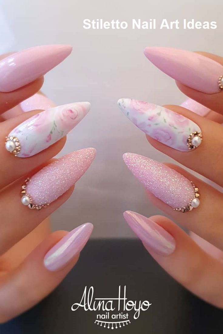 30 Great Stiletto Nail Art Design Ideas 1 Fialove Nehty Gelove Nehty Nehty