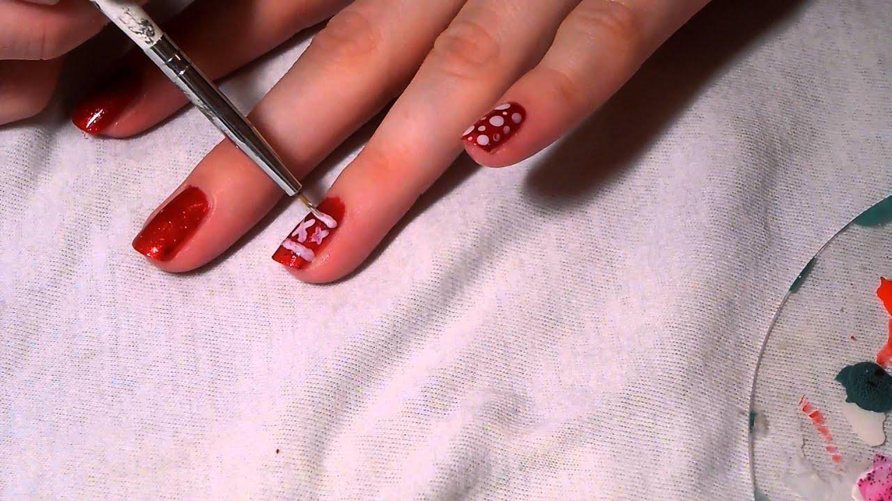 Christmas Nails Vanocni Nehty By Just Ann