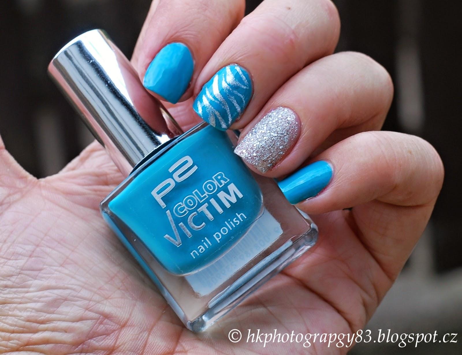 Hk Photography Modro Stribrny Nail Art Podle Baju