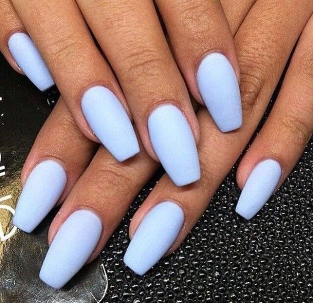 25 Summer Nail Ideas To Copy Right Now Modre Nehty Gelove Nehty Matne Nehty