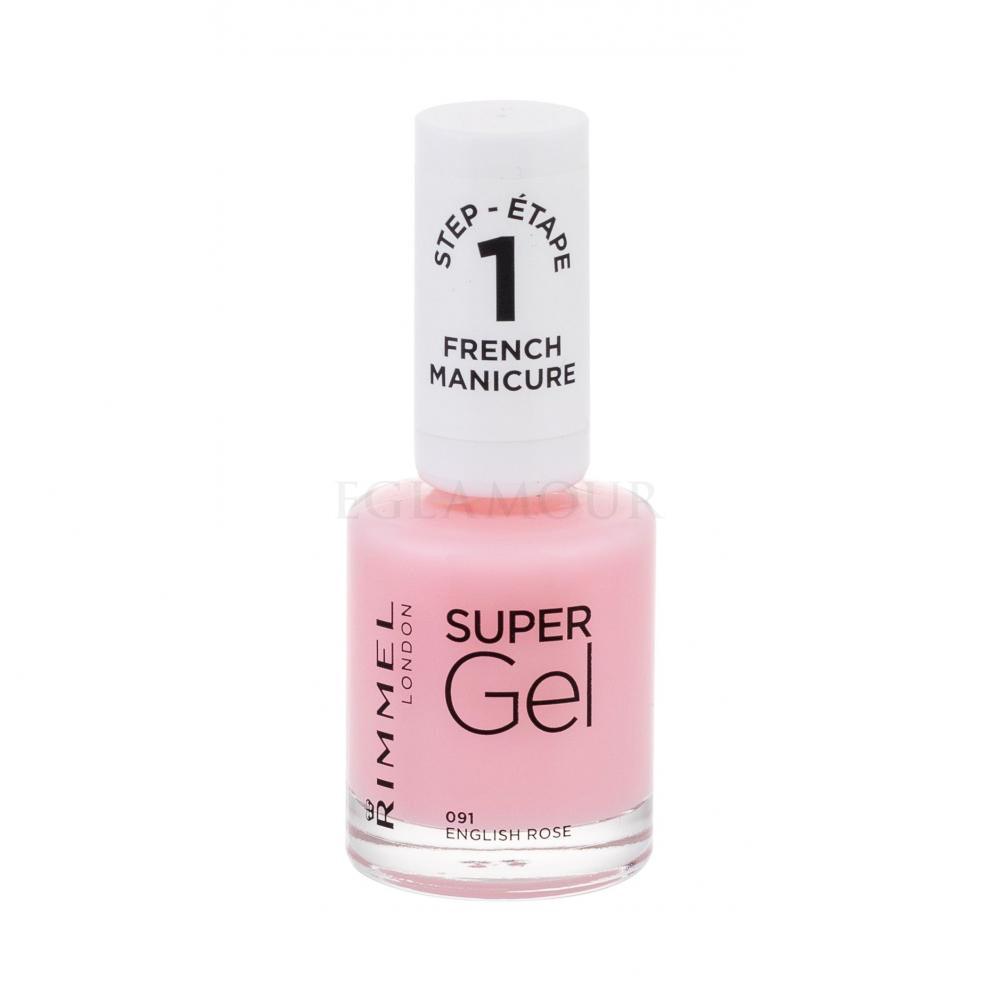 Rimmel London Super Gel French Manicure Step1 Lakier Do Paznokci Dla Kobiet 12 Ml Odcien 091 English Rose Perfumeria Internetowa E Glamour Pl