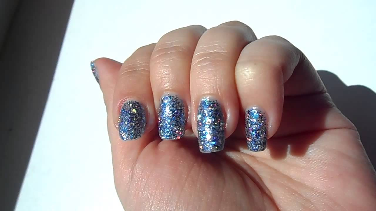Gabriella Salvete Glitter Enamel Blue Rebel 06 Youtube