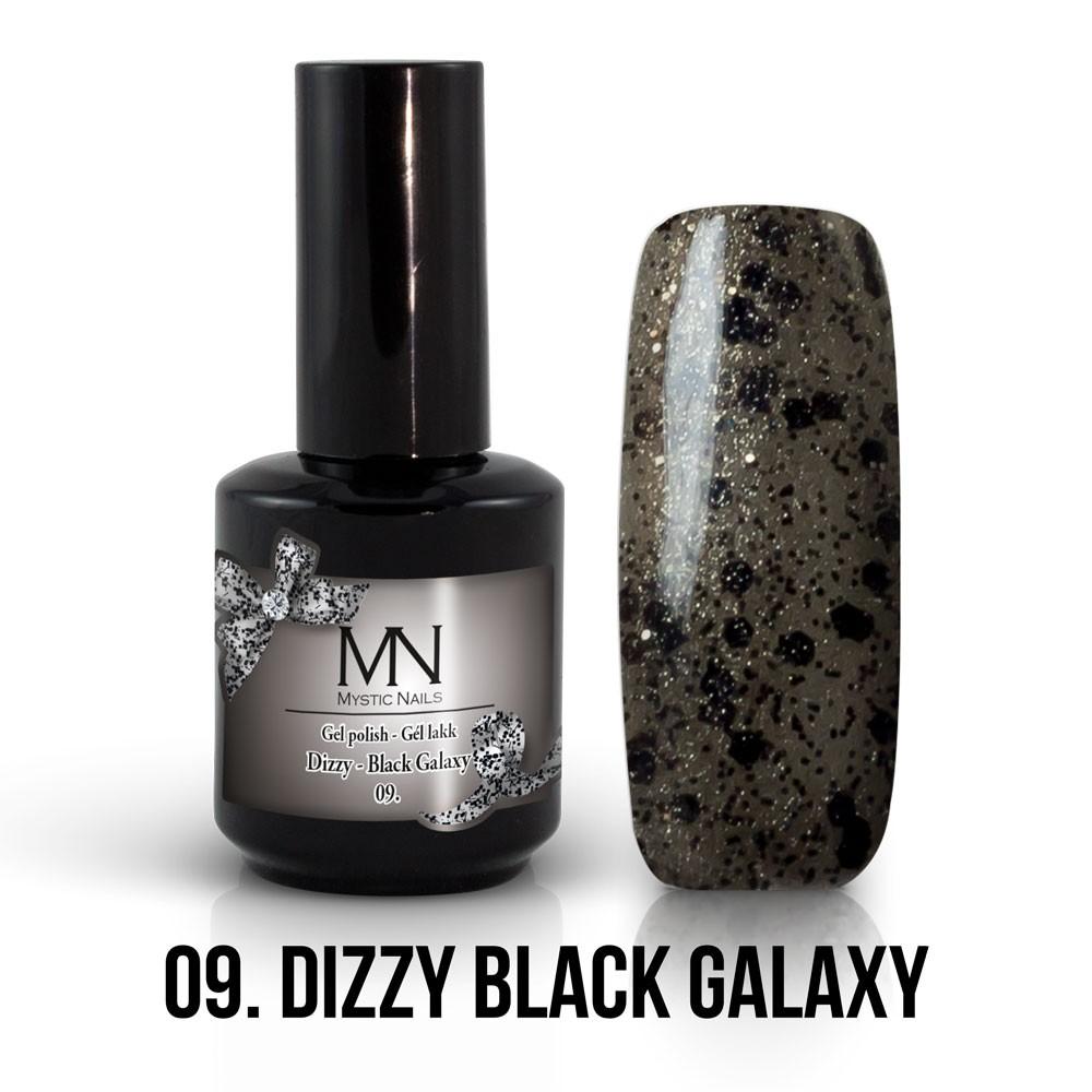 Gel Polish Dizzy No 09 Dizzy Black Galaxy 12 Ml Gel Lak Dizzy Kolekcija 12 Ml Mystic Nails Serbia