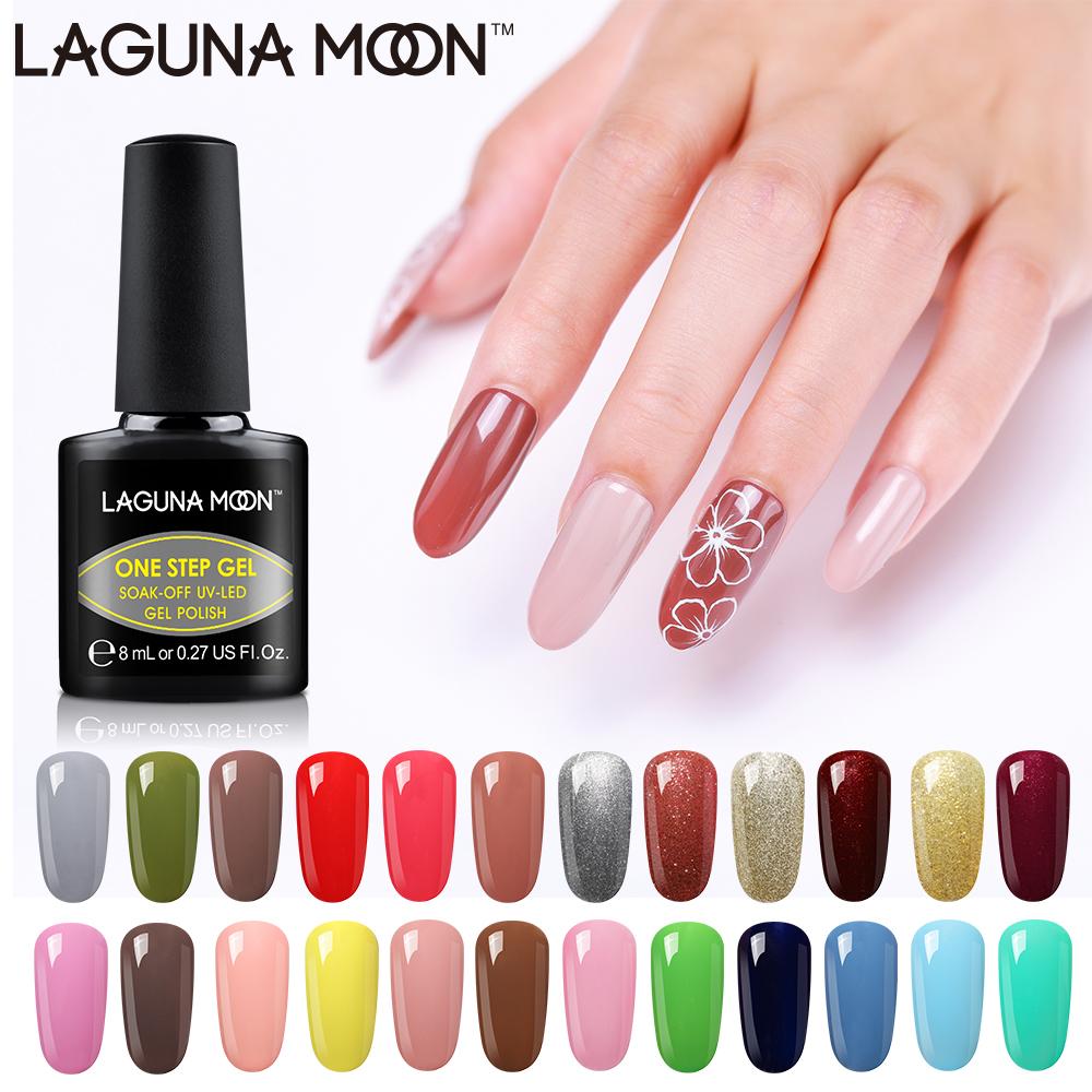 Lagunamoon One Step Gel Nail Polish Uv Led Soak Off Varnish Lacquer Pedicure Gel Polish Beauty Salon Semi Permanent Gel Lak Aliexpress