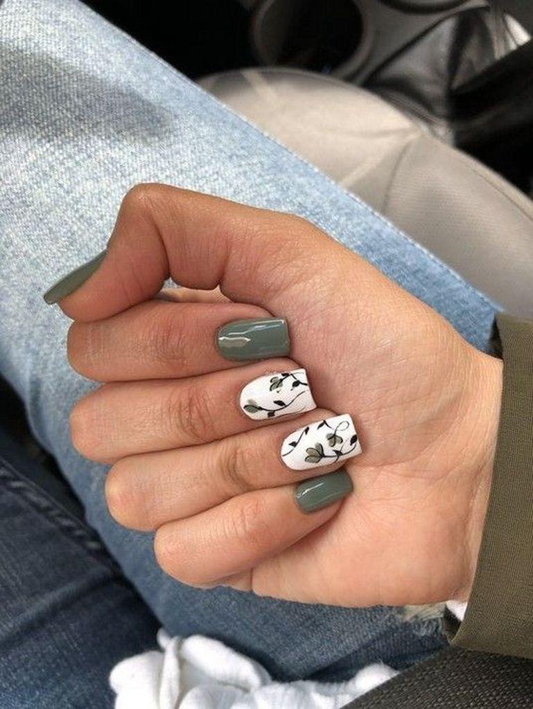 60 Trending Early Spring Nails Art Designs And Colors 2019 Green Nail Art Green Nails Cute Acrylic Nails