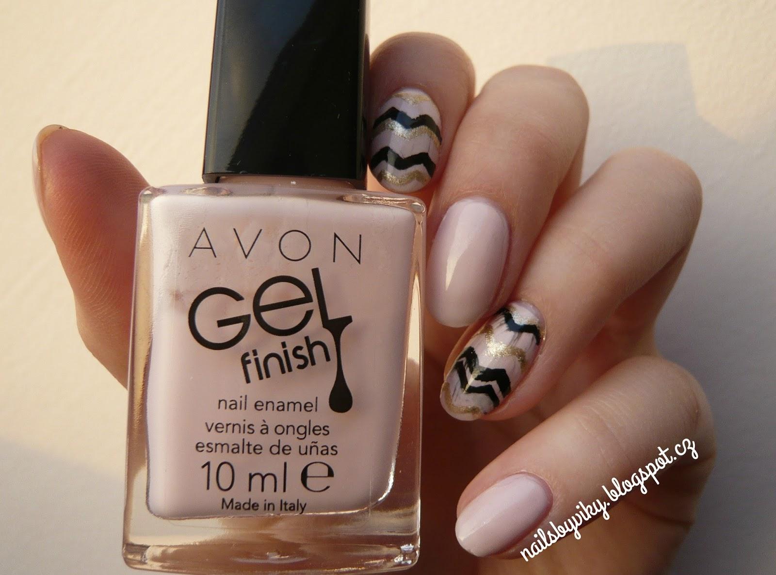 Nails By Viky Pink Chevron Nails Cik Cak Nehty