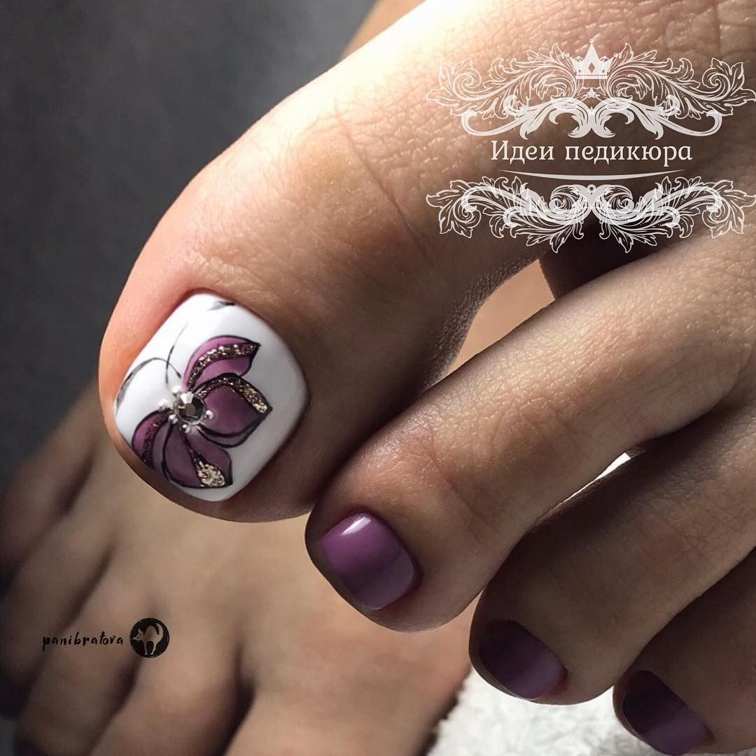 Pin By Monika Ivanova On Nejl Art Toe Nail Designs Pretty Toe Nails Gel Toe Nails