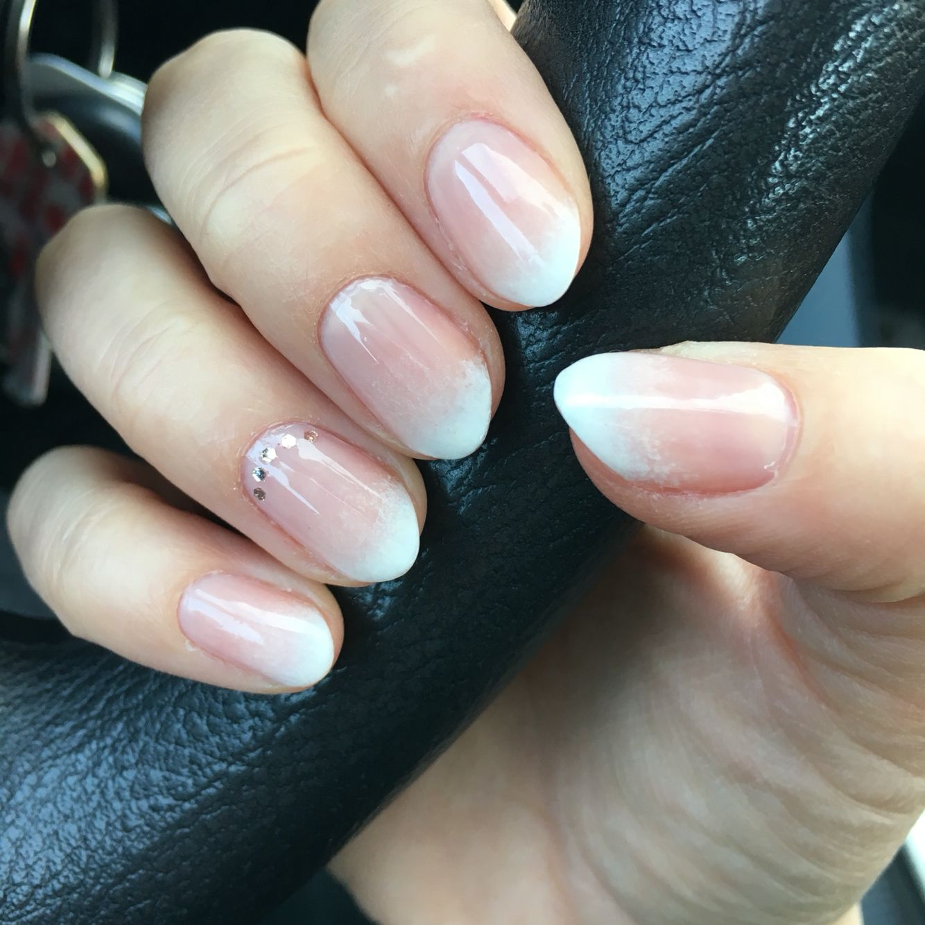 Almond Shaped Nails Ombre French Manicure Nehty