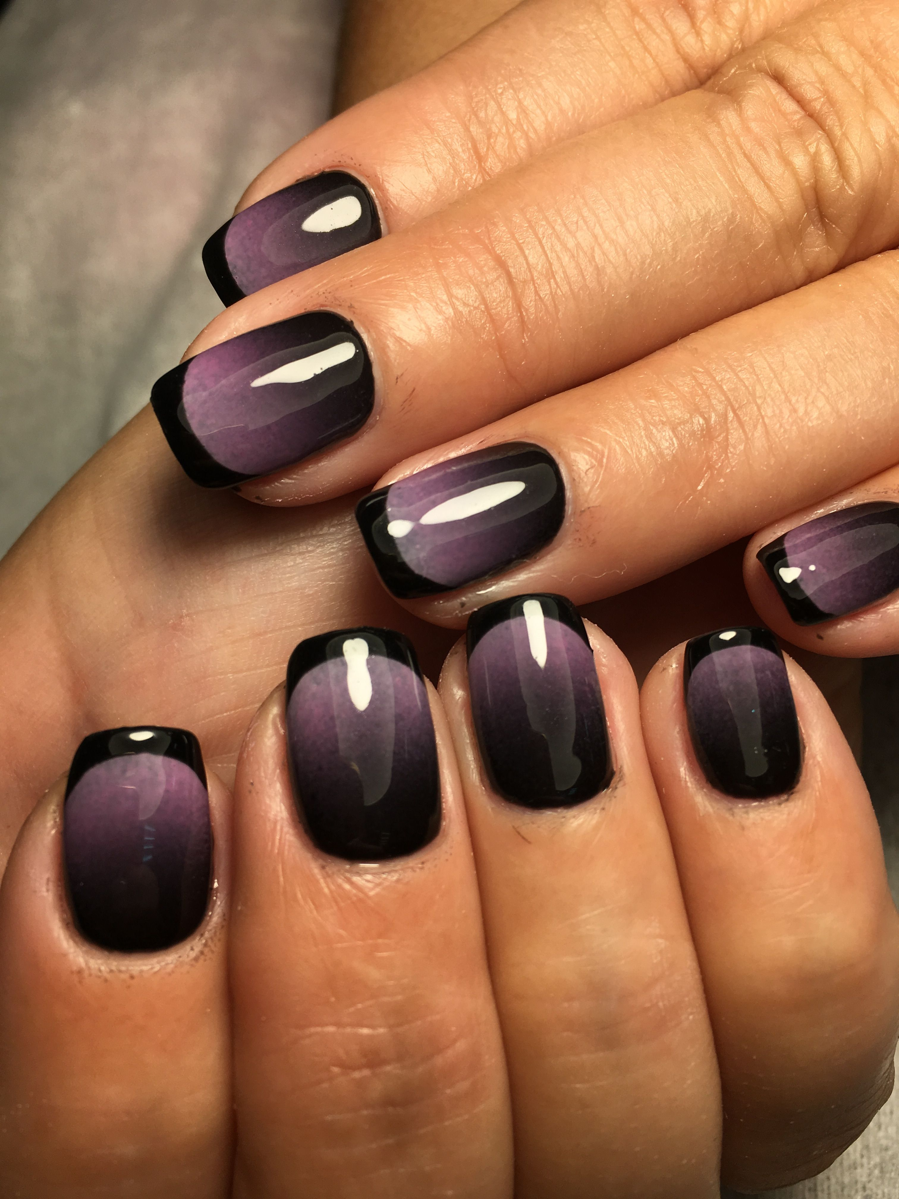 Purple Ombre Great Halloween Nails Prom Nails Manicure Fashion Nails