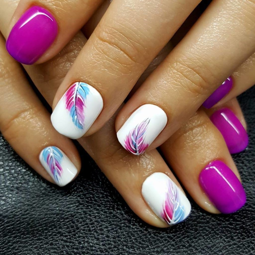 Gorgeous 45 Top Trending Nail Art 2019 Http 101outfit Com Index Php 2019 01 15 45 Top Trending Nail Art 2019 Feather Nails Feather Nail Art Cute Nail Art