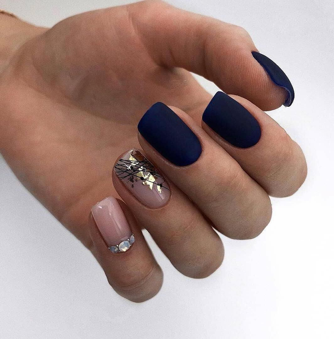 45 Fall Can Also Be Recommended With Frosted Nail Style In 2020 With Images Design Nehtu Nehty Design