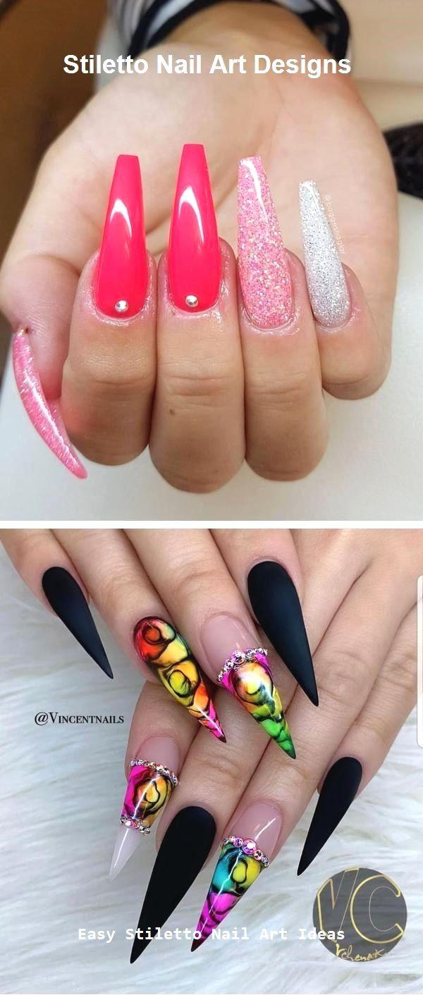30 Great Stiletto Nail Art Design Ideas 2 Nehty