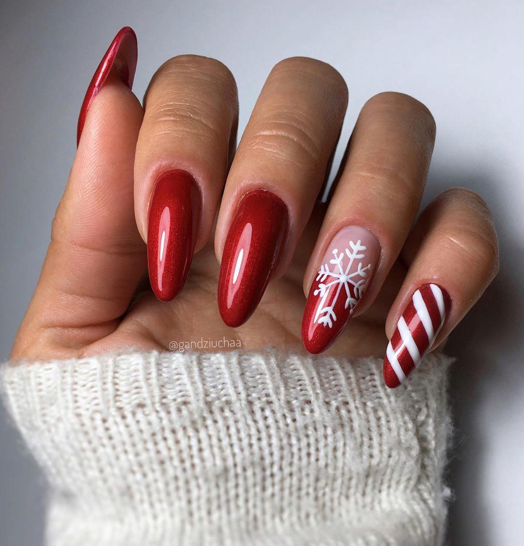 Indigo Designer On Instagram Nails Mani Hybridnails Indigonails Indigodesigner Christmasnails Winternails Nailart Rednails Nailsinsp Nail Art Nails Mani