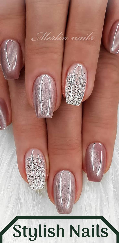 Stylish Nails Stylish Nails Nail Designs Glitter Bridal Nails
