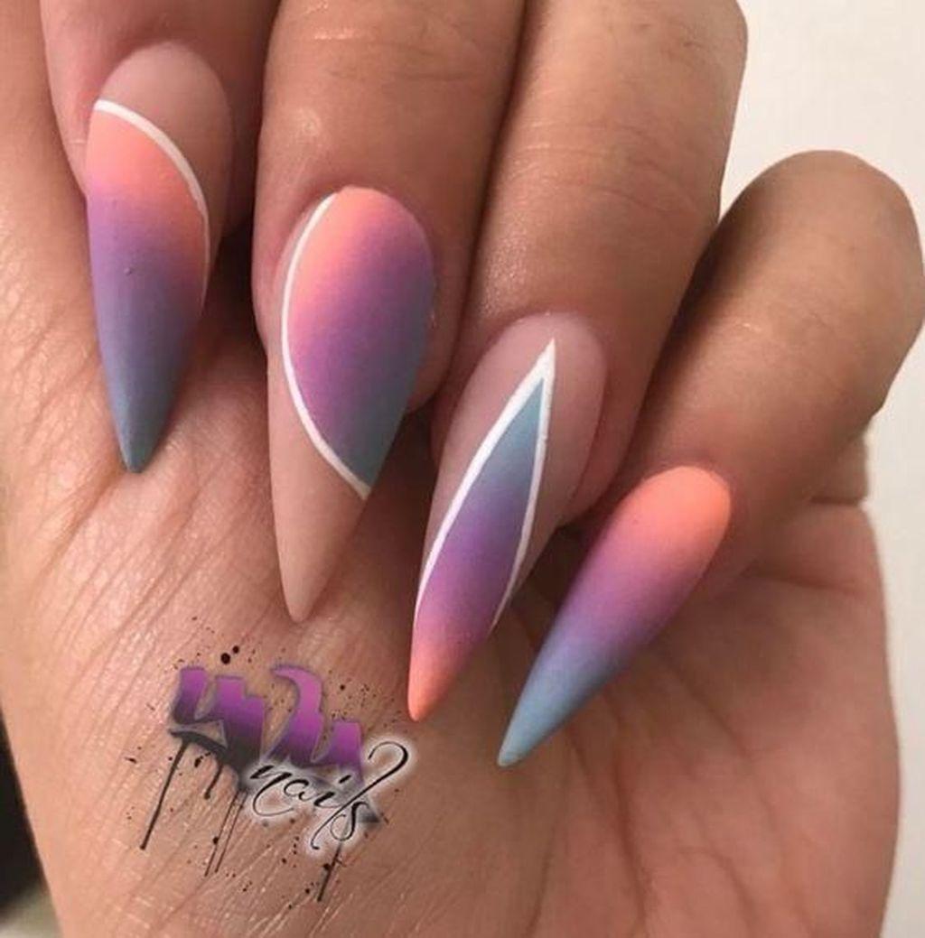 35 Beautiful Ombre Nail Design Ideas To Make You More Beautiful Design Nehtu Gelove Nehty Barevne Nehty