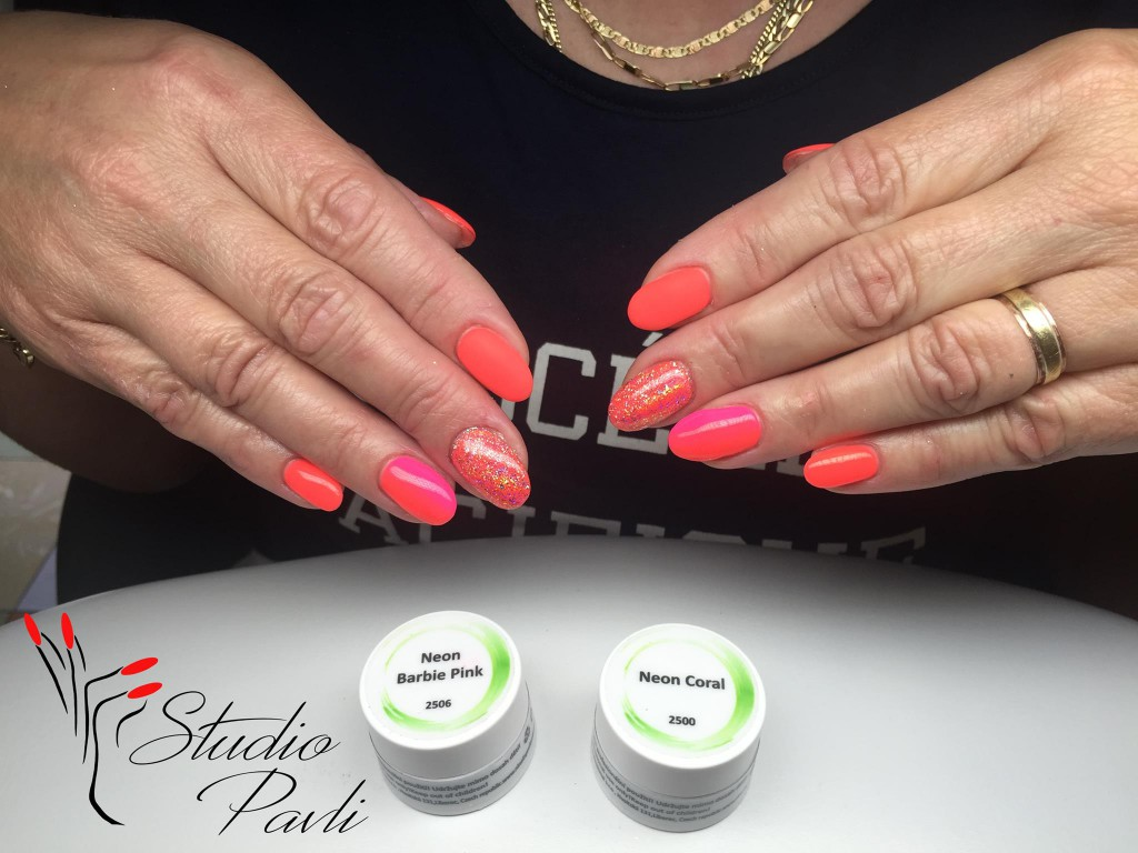 Uv Led Barevny Gel Neon Coral Uv Led Barevne Gely Neon Nl Nails Profesional Profesionalni Pece O Nehty