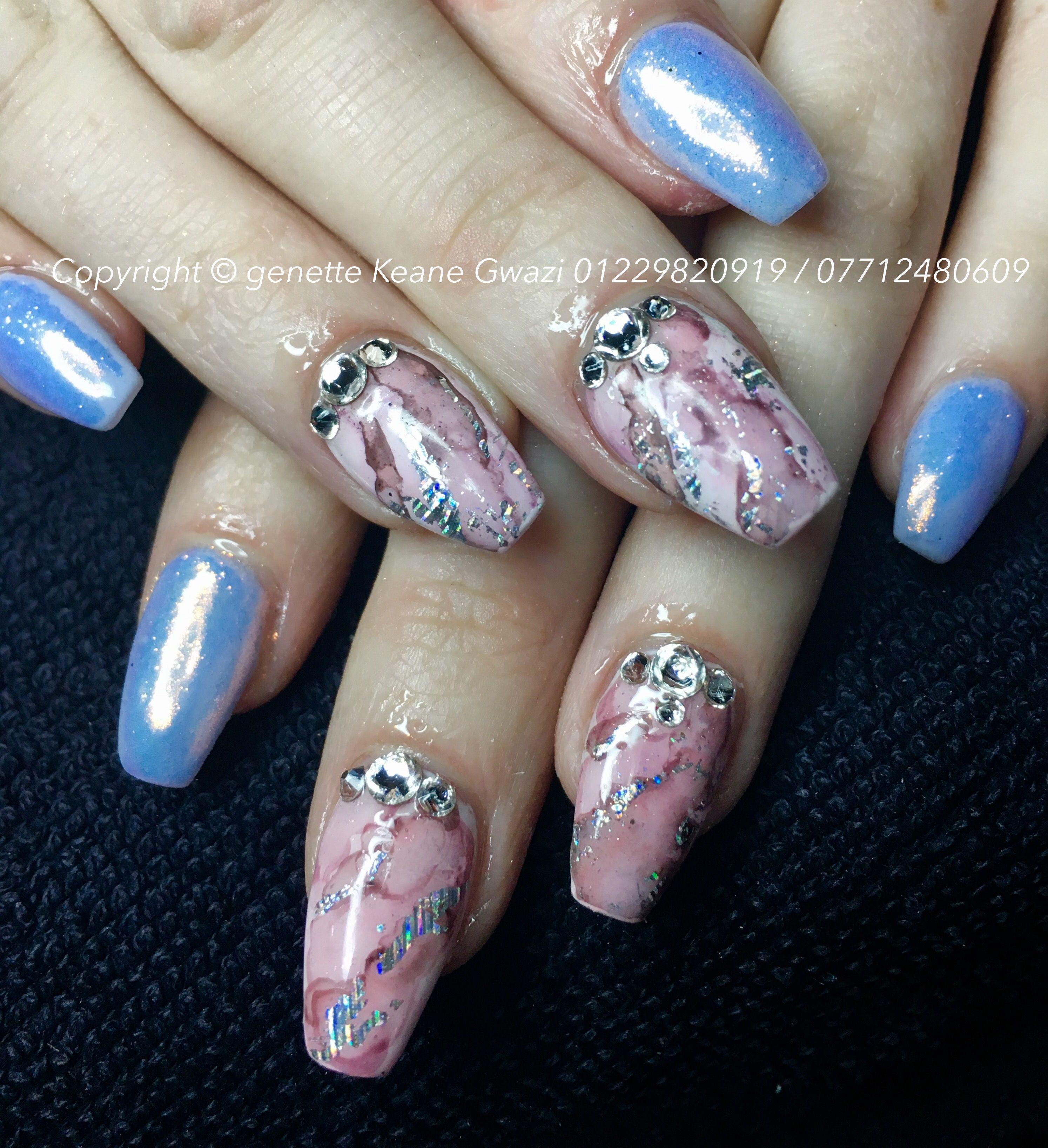 Marble Nail Art Swarovski Crystal Nails Swarovski Nails Crystal Nails Marble Nails