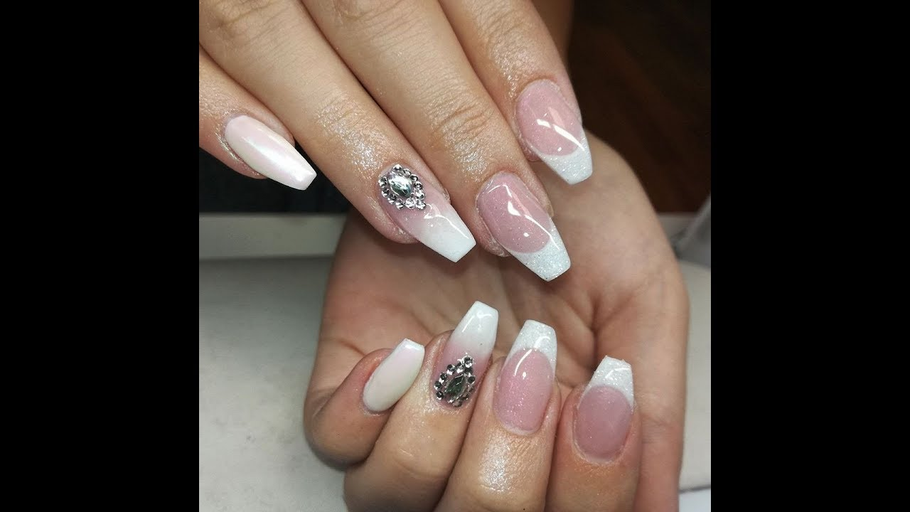 Francia Babyboomer Sello Chrome Kormok French Design Gel Nails Youtube