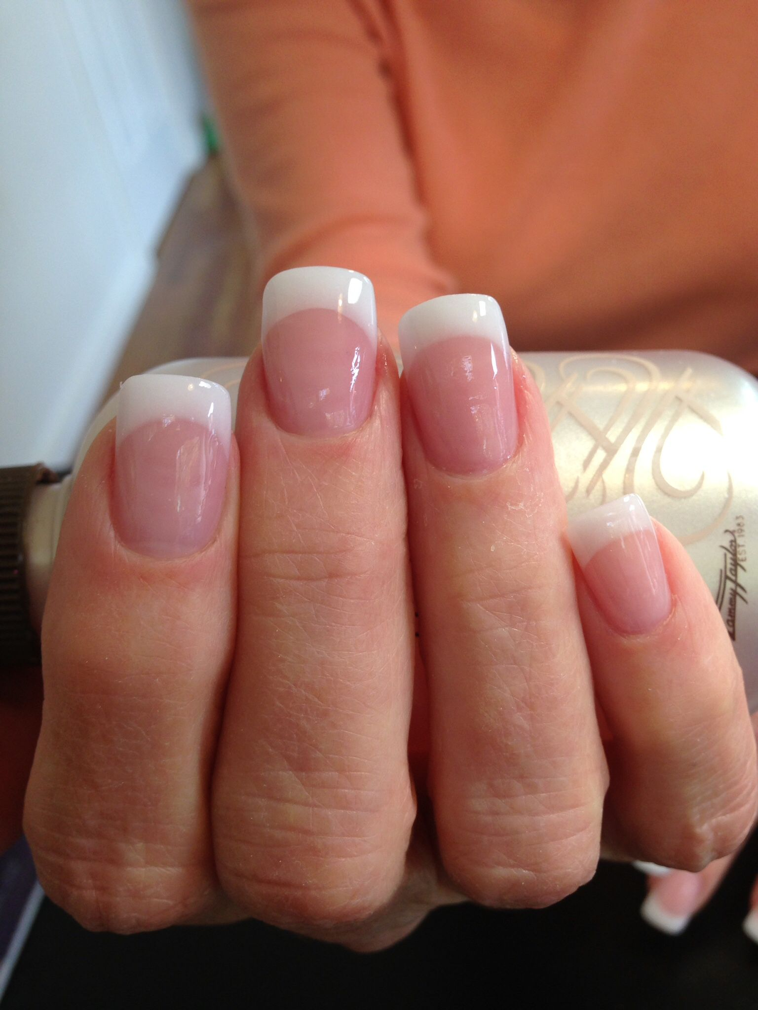 Tammy Taylor Pink And White Acrylic French Tip Acrylic Nails White Tip Acrylic Nails French Acrylic Nails