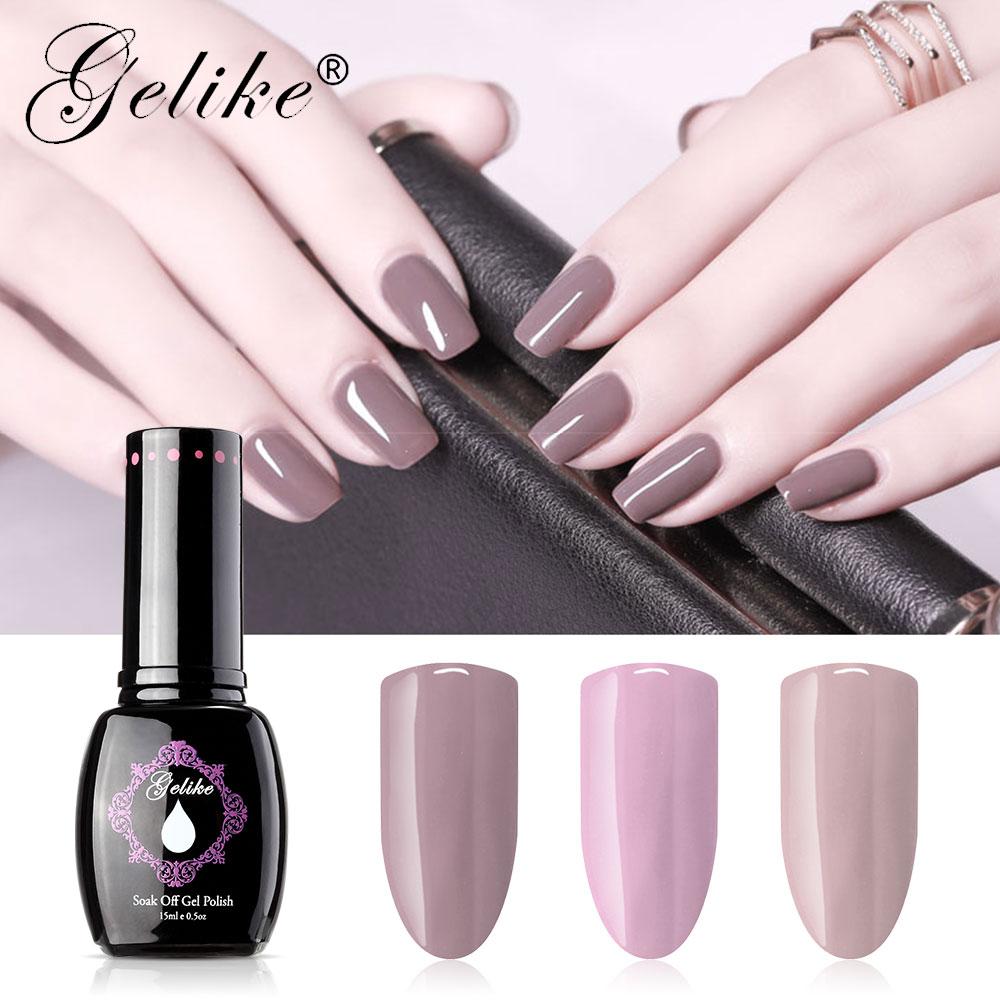Gelike New Color Uv Gel Nail Polish Semi Permanant Uv Nail Gel Lak Primer Soak Off Nail Art Gel Varnish Gelpolish Manicure Nail Gel Aliexpress