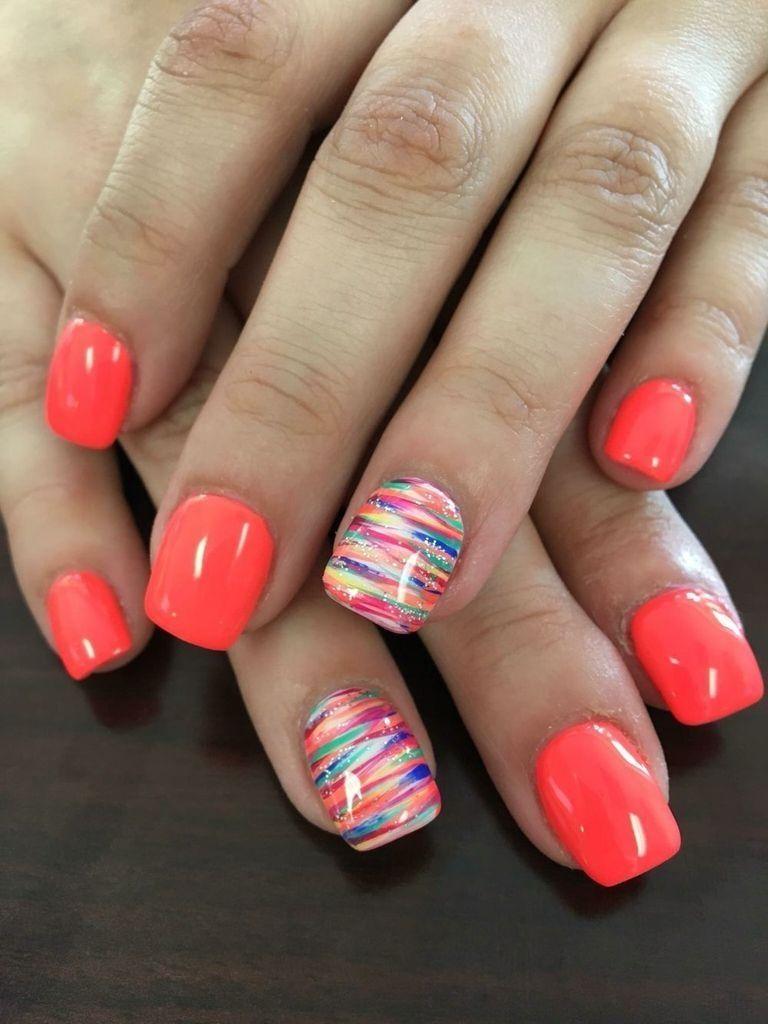 41 New Summer Nail Color For Beauty Design Nehtu Gelove Nehty Ombre Nehty