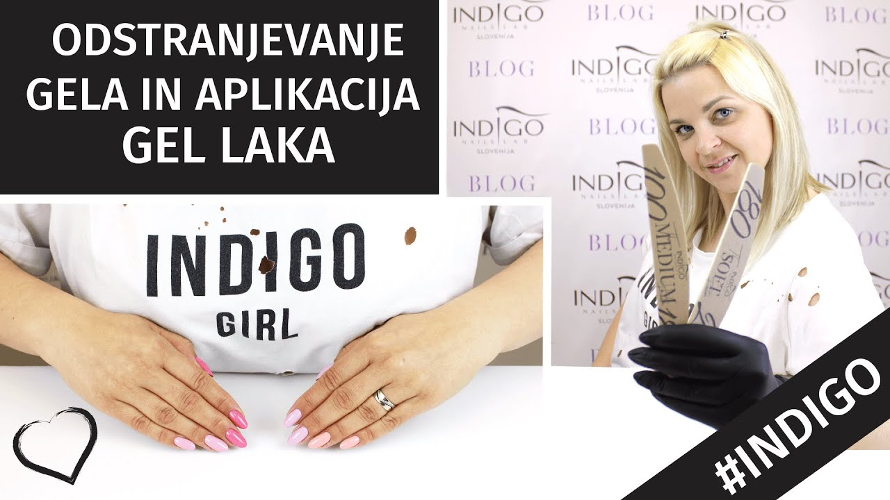 Korekcija Gela In Aplikacija Gel Laka Indigo Nails Lab Slovenija Youtube