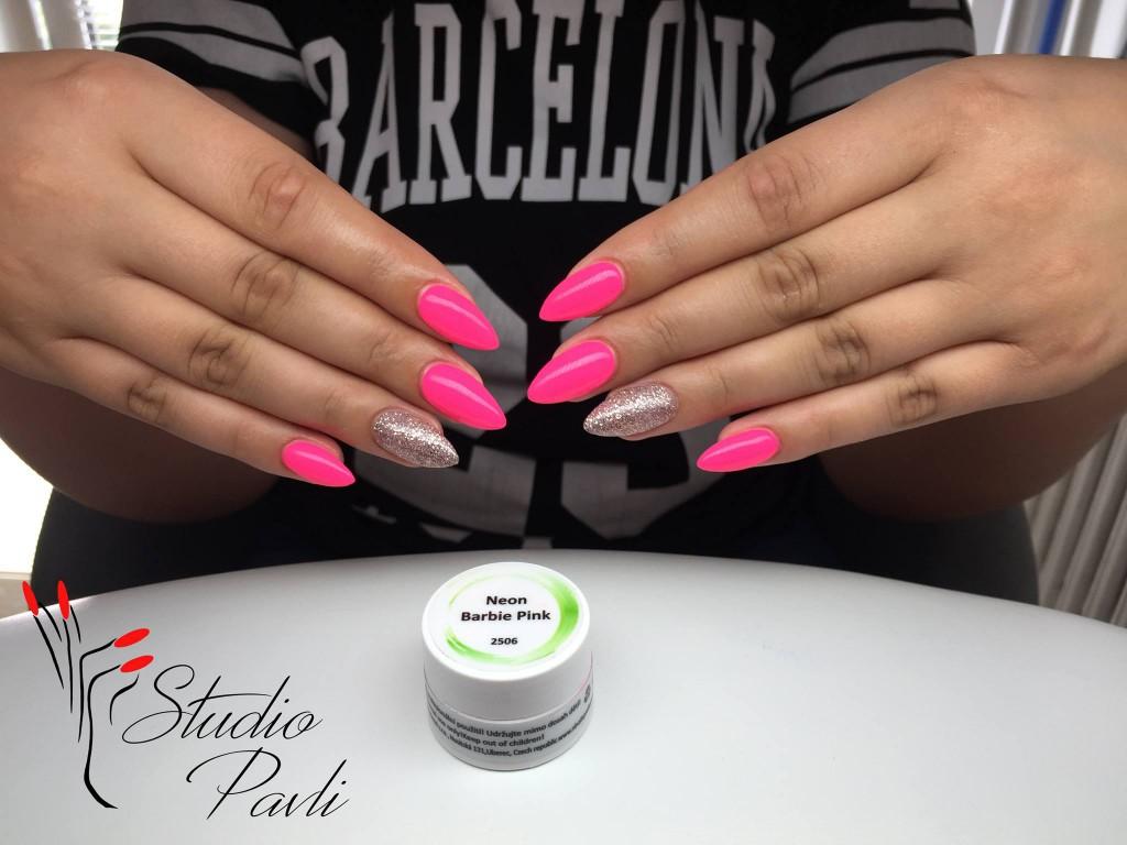 Uv Led Barevny Gel Neon Barbie Pink Uv Led Barevne Gely Neon Nl Nails Profesional Profesionalni Pece O Nehty