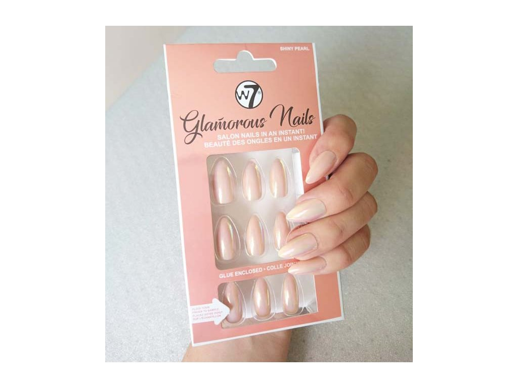 W7 Nalepovaci Nehty Glamorous Nails Shiny Pearl Dekorativka Cz