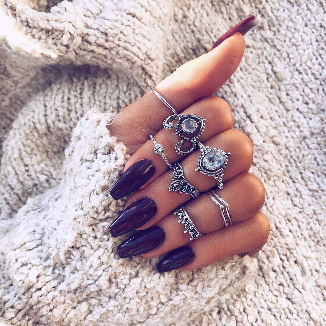 Fashionable 2018 Nails The Texture Of Manicure And Its Types Nailcolorart Com Nails Inspiration Nails Winter Nails