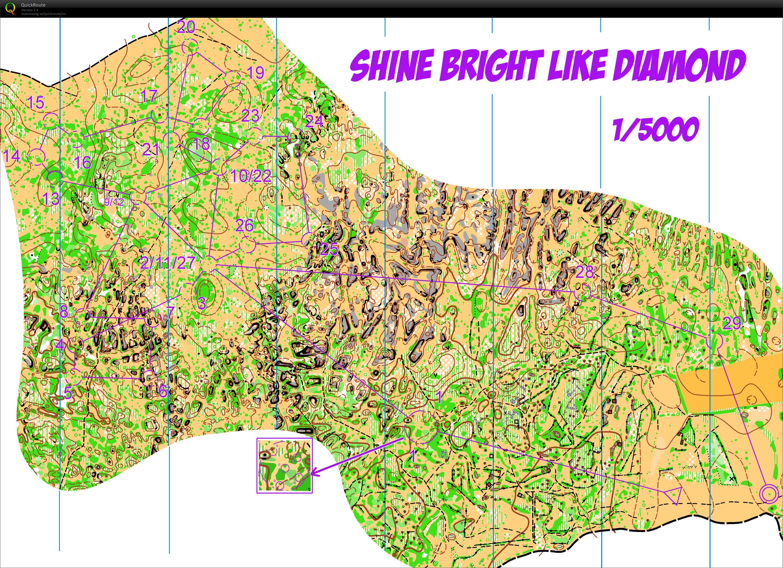 Tc Millau 14 Shine Bright Like A Diamond November 21st 2012 Orienteering Map From Tatam