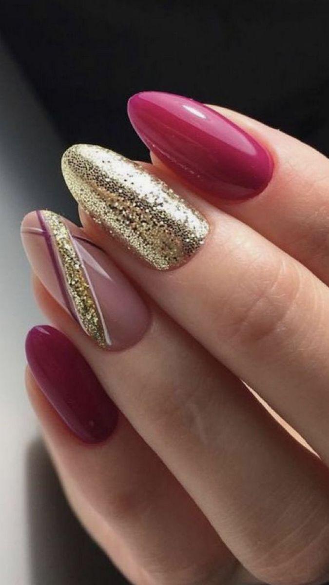 50 Gorgeous Nail Art Designs That Will Shimmer And Shine You Up Gelove Nehty Design Nehtu Nehet
