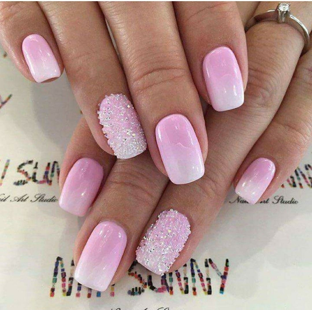 Pin By Katka Buchtanda On Design Nehtu Pink Ombre Nails Pink Nails Cute Nails