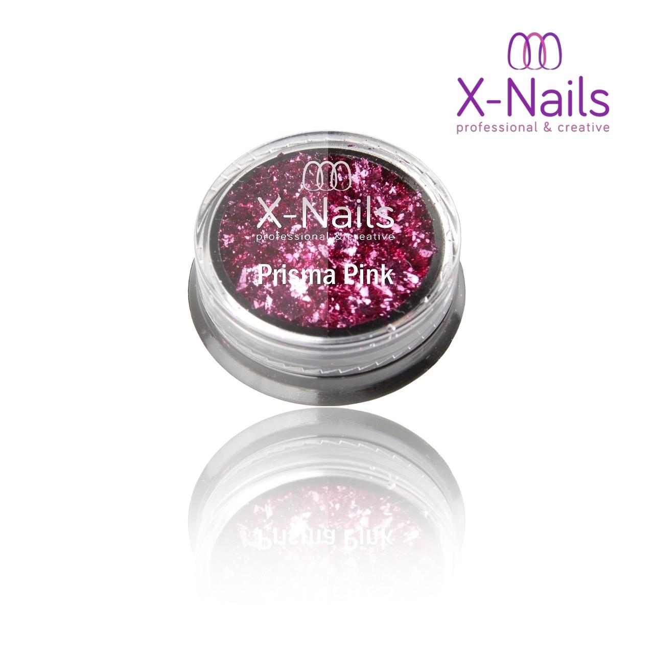 X Nails Zrcadlovy Lestici Pigment Na Nehty Prisma Pink X Nails Gelove Akrylove Nehty