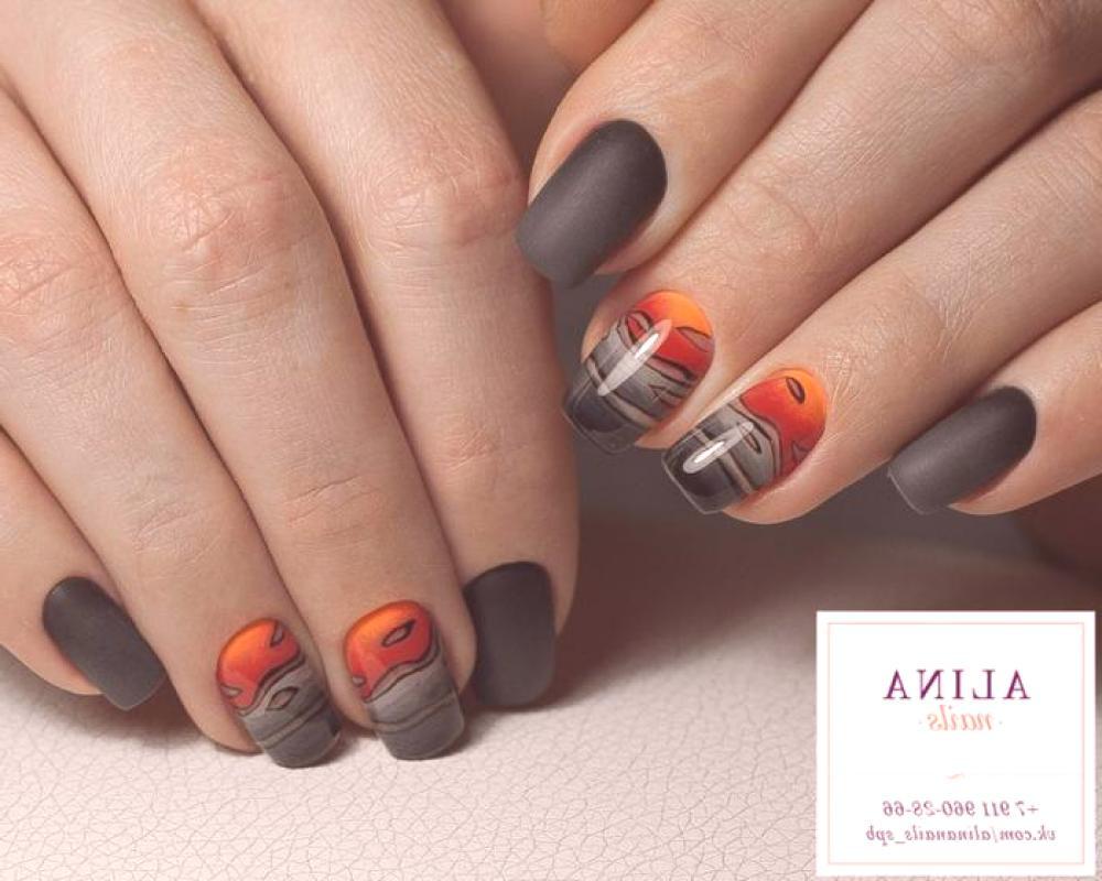 Oranzova Manikura Jasny Design V Oranzove Barve