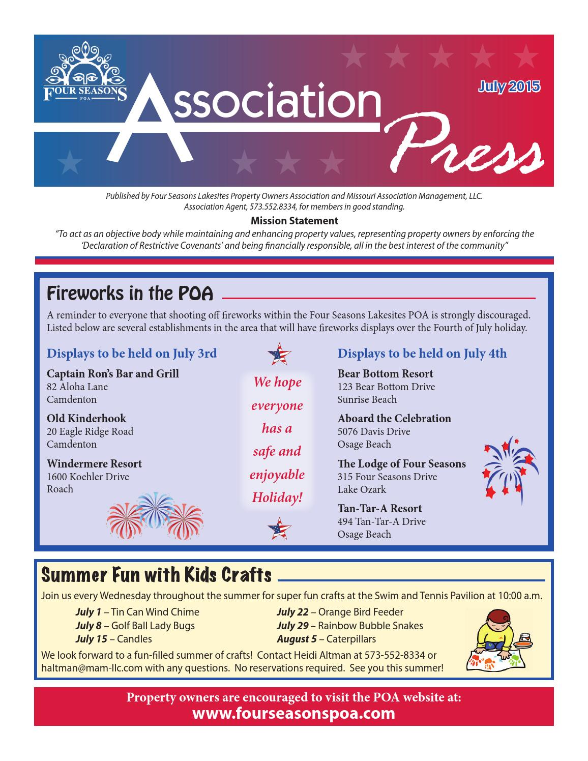 July 2015 Association Press By Four Seasons Poa Issuu