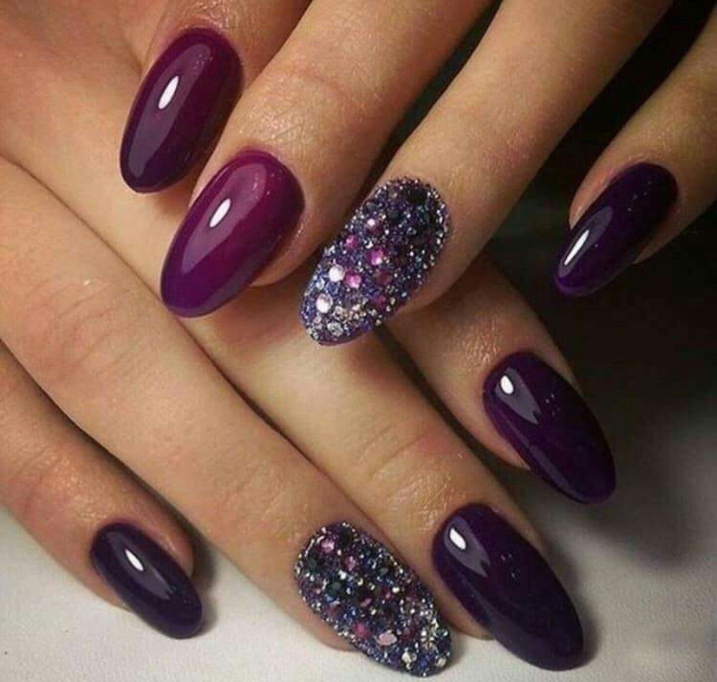 Pin By Deniicek On Nails Fall Acrylic Nails Purple Nail Art Simple Fall Nails
