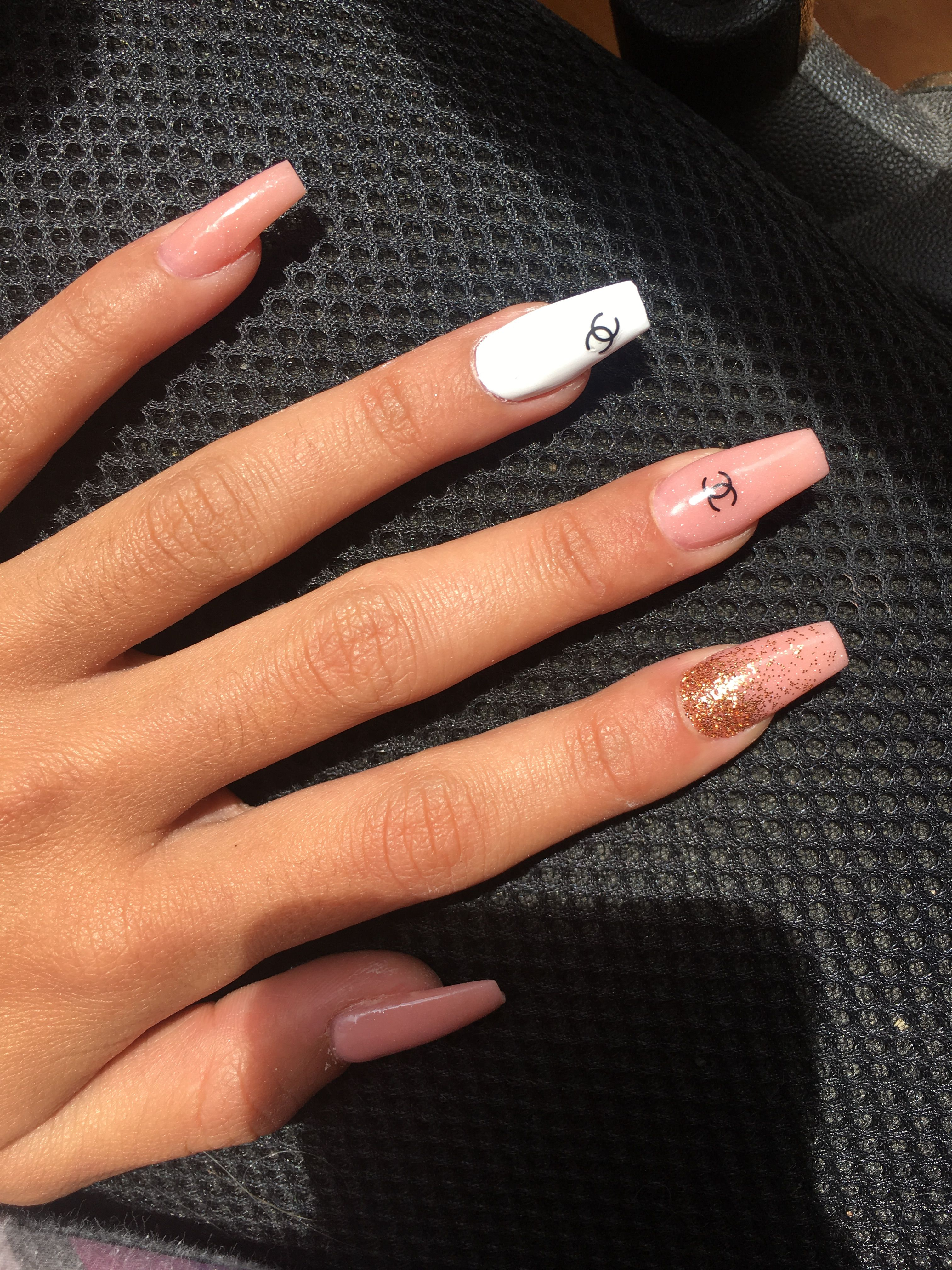 Chanel Nails Chanel Nails Gucci Nails Long Acrylic Nails